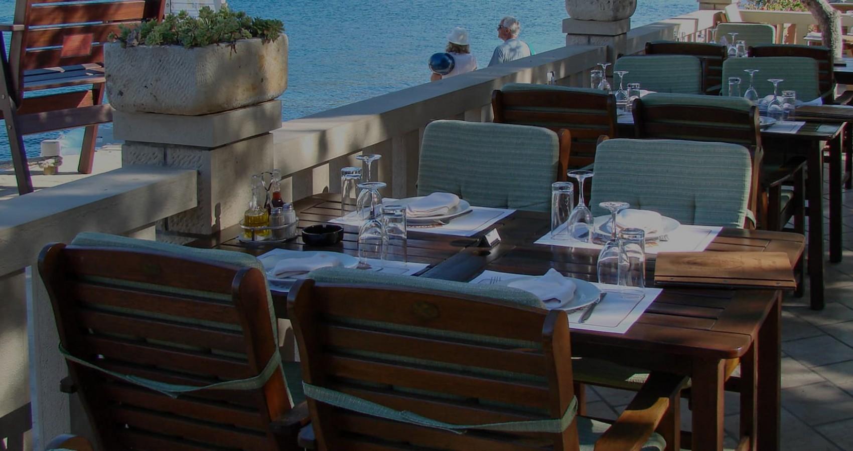 Restaurant mit Meeresblick Porto Rosso